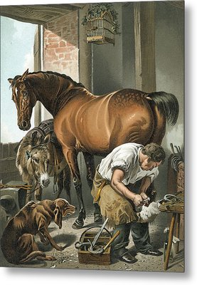 Blacksmith Metal Print by Sir Edwin Landseer
