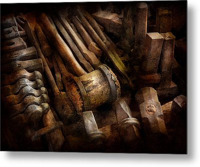 Blacksmith - The Art Of Pounding  Metal Print by Mike Savad