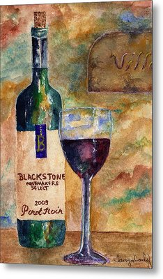 Blackstone Wine Metal Print by Tamyra Crossley