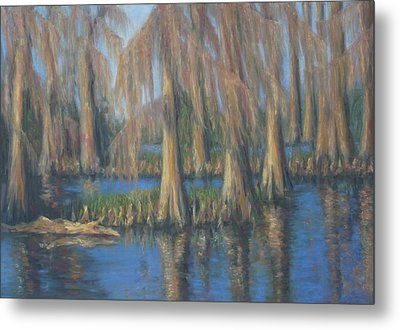 Blackwater Blue At Magnolia Gardens Metal Print