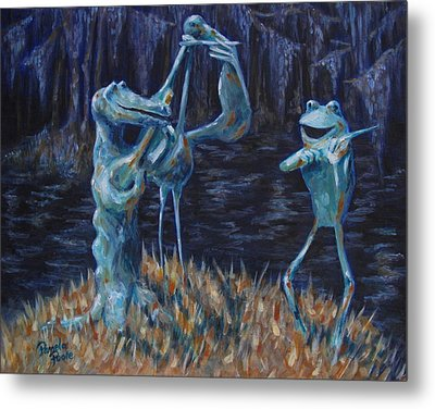 Blackwater Vibrations In The Audubon Swamp Metal Print