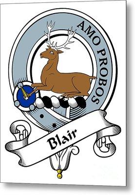 Blair Clan Badge Metal Print by Heraldry