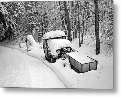 Metal Print featuring the photograph Blanket Of Snow by Barbara West