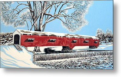 Blankets Of Winter Metal Print by David Linton