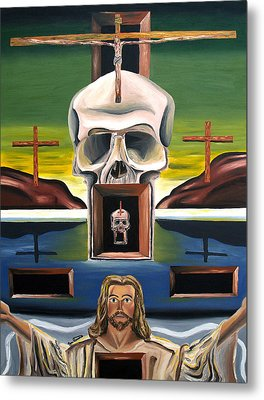 Metal Print featuring the painting Blasphemixition by Ryan Demaree