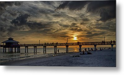 Blazing Sky Metal Print by Anne Rodkin