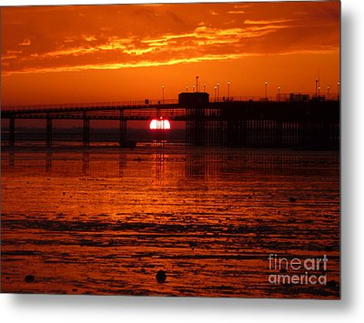 Blazing Sunset Metal Print by Vicki Spindler