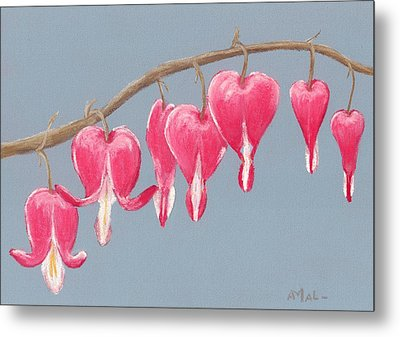 Bleeding Hearts Metal Print by Anastasiya Malakhova