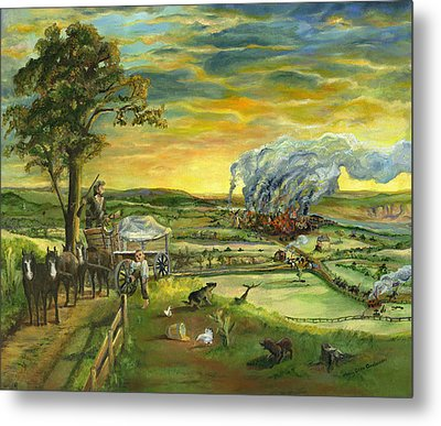 Metal Print featuring the painting Bleeding Kansas - A Life And Nation Changing Event by Mary Ellen Anderson
