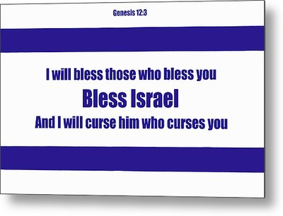 Bless Israel Poster Metal Print