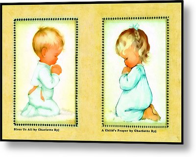 Bless Us All And A Childs Prayer Metal Print