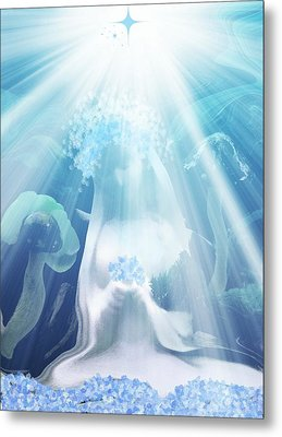 Blessed Mother Mary  Version 2 Metal Print by Sherri's Of Palm Springs