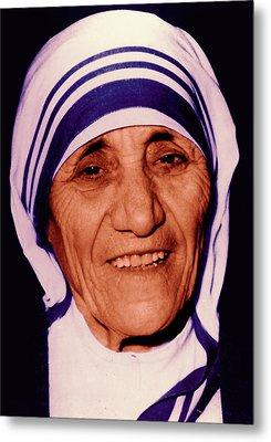 Blessed Teresa Of Calcutta Metal Print by Li   van Saathoff