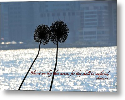 Blessed With Comfort Metal Print