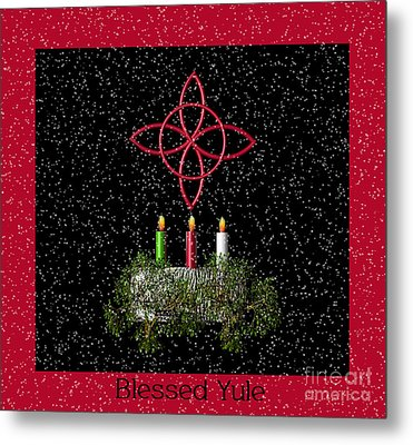 Blessed Yule Metal Print by Eva Thomas