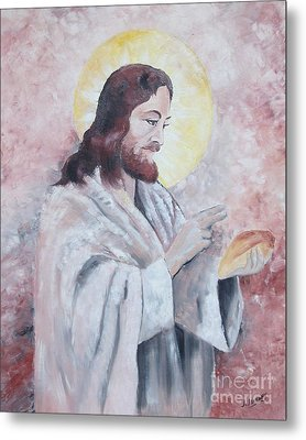 Blessing Of The Bread Metal Print by Jim Janeway