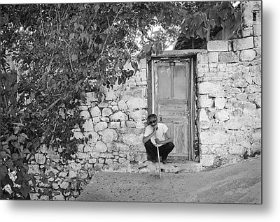 Blind Man And His House Metal Print by Ilker Goksen