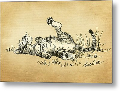Bliss In The Grass Metal Print by Evie Cook