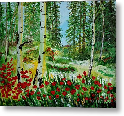 Metal Print featuring the painting Bliss by Leslie Allen