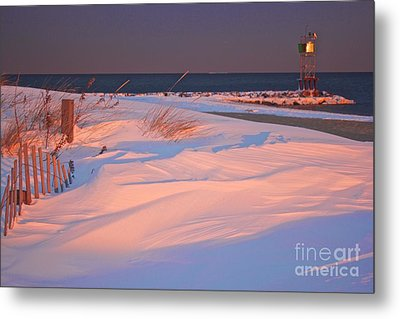 Blizzard Juno Sunset Metal Print by Amazing Jules