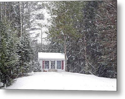 Metal Print featuring the photograph Blizzard Of 2013 Begins by Barbara West