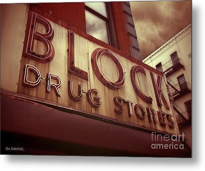Block Drug Store - New York Metal Print by Jim Zahniser