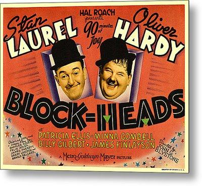 Block Heads Metal Print by Studio Release