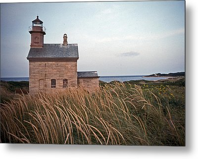 Block Island North West Lighthouse Metal Print by Skip Willits