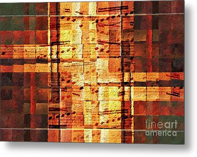 Metal Print featuring the digital art Block Party by Lon Chaffin