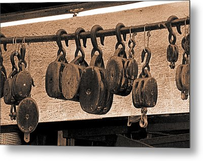Blocks In The Boatyard Metal Print