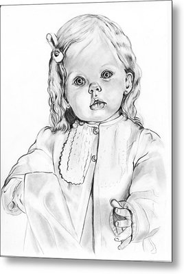 Blonde Doll Metal Print