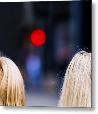 Blondes Are Not Allowed 2 - Featured 3 Metal Print by Alexander Senin