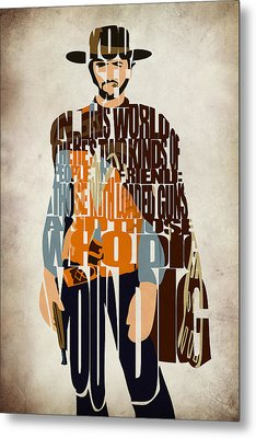 Blondie Poster From The Good The Bad And The Ugly Metal Print by Ayse Deniz