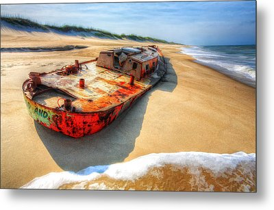 Blood And Guts II - Outer Banks Metal Print by Dan Carmichael