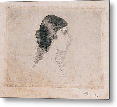 Blood Florence, Self-portrait, 1898 Metal Print by Everett