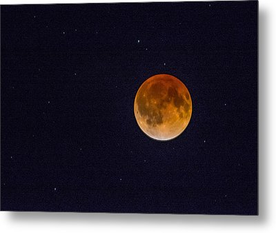 Blood Moon And Stars Metal Print