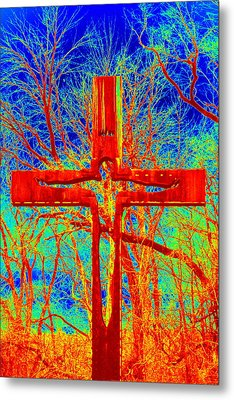 Metal Print featuring the photograph Blood On The Cross by Cathy Shiflett
