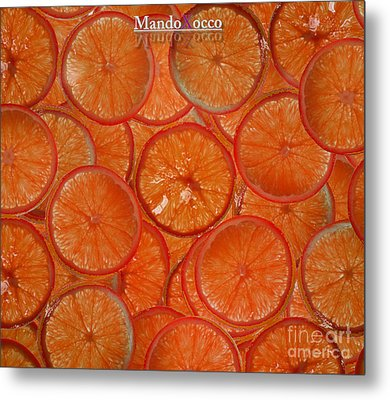 Blood Orange Metal Print