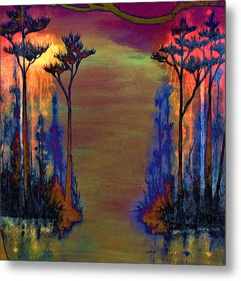 Metal Print featuring the painting Blood Roots by David Mckinney
