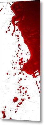 Blood Splatter  Metal Print by Holly Anderson