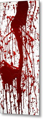 Blood Splatter II Metal Print