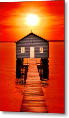 Blood Sunset Metal Print by Az Jackson
