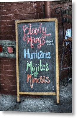 Bloody Marys Metal Print by Brenda Bryant