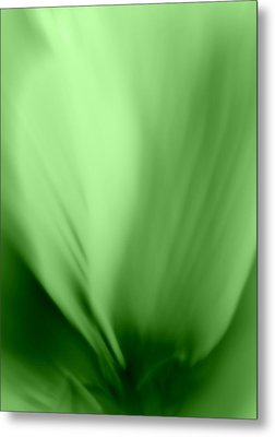 Bloom In Green Metal Print by Mary Beth Landis