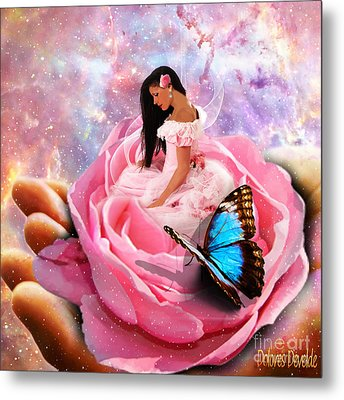 Bloom In The Hand Of The Father Metal Print by Dolores Develde