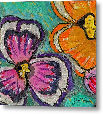 Metal Print featuring the painting Blooming Flowers by Joan Reese