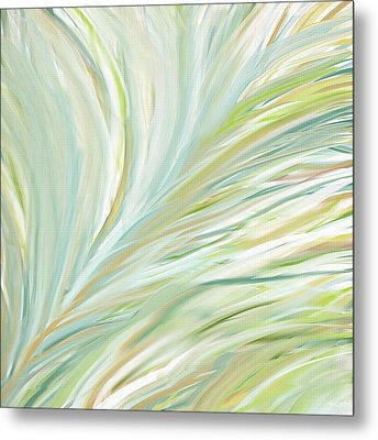 Blooming Grass Metal Print