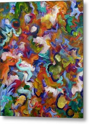 Metal Print featuring the painting Blooming Joy by Lynda Lehmann
