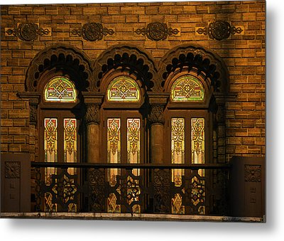 Bloomingdale's At Home In Chicago's Medinah Temple Metal Print by Christine Till