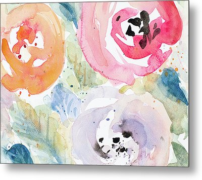 Blooms Abound Rectangle Metal Print by Lanie Loreth